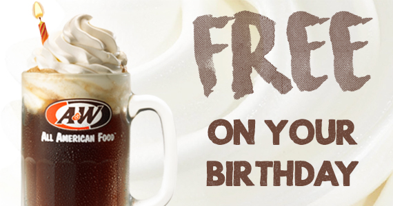 Free Root Beer Float On Your Birthday From A&W