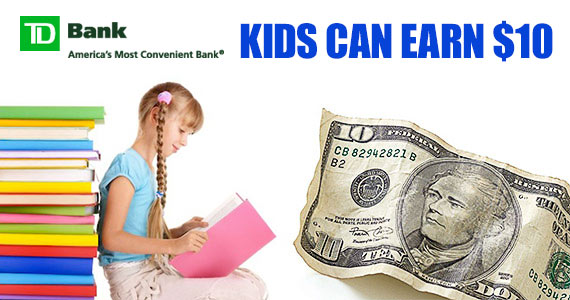 Kid's Can Earn $10 From TD Bank This Summer