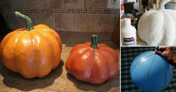 Tutorial: Paper Mache Pumpkins
