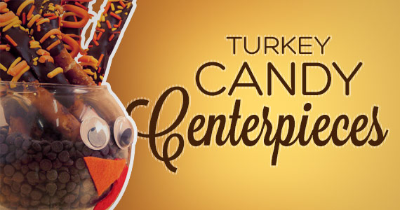 Make Candy Turkey Centerpieces For Your Thanksgiving Table