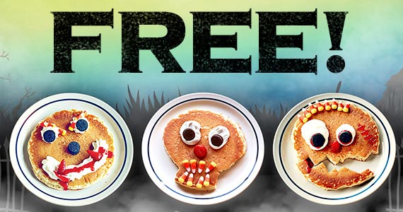 Free Scary Face Pancake On October 31st