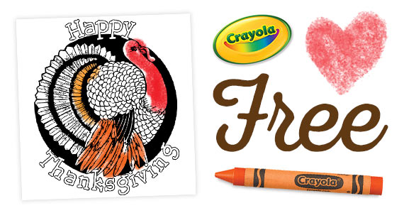 Free Thanksgiving Coloring Pages From Crayola