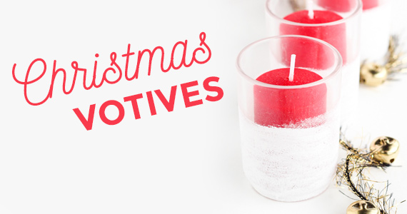 How To Make Frosted Christmas Candle Votives