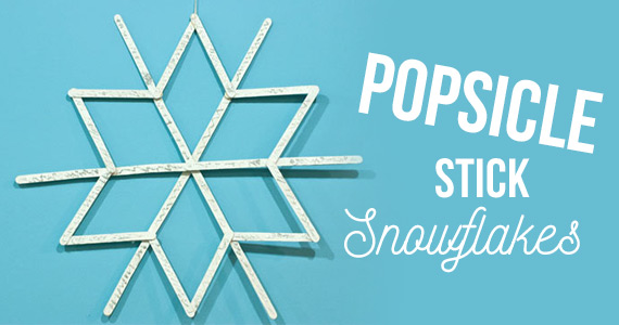 DIY Popsicle Stick Snowflakes