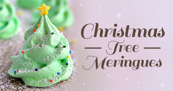 how to make christmas tree meringue cookies - Christmas Tree Meringues