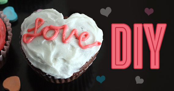 DIY Heart Shaped Cupcakes – NO Carving!