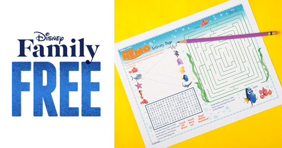 Free Finding Nemo Activity Page