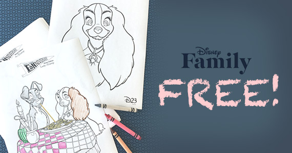 Free Lady And The Tramp Coloring Pages