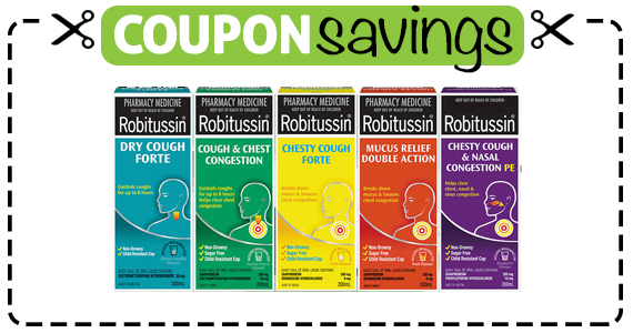 Save $1.25 off Robitussin