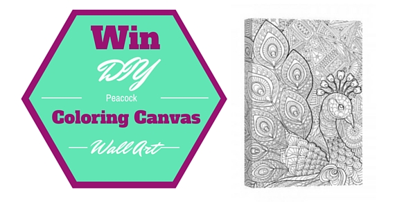 Win A Peacock Prance Coloring Canvas Wall Art