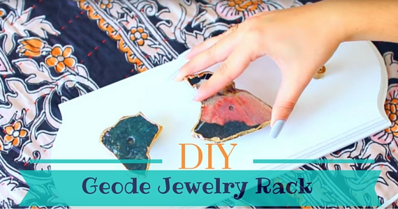 DIY Geode Jewelry Rack