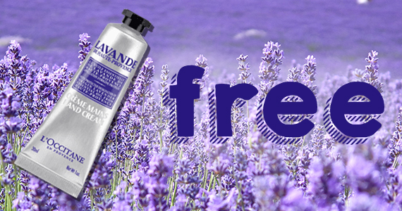 Free L'Occitane Lavender Hand Cream Sample