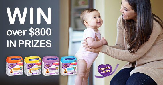 Win Over $800 in Prizes from Parent's Choice