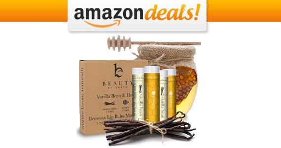Get a 4-pack Vanilla Bean & Honey Lip Balm Set For $8.50