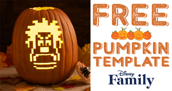 Free Wreck-It Ralph Pumpkin Carving Template