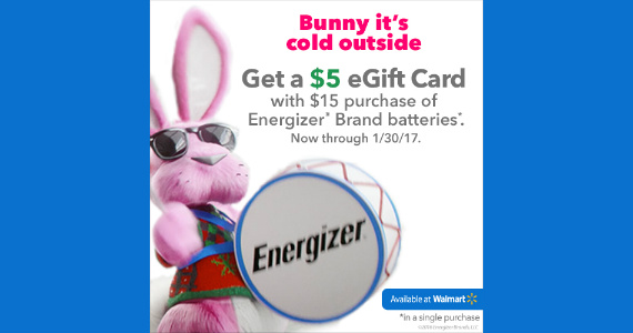 Save on Energizer Batteries at Walmart
