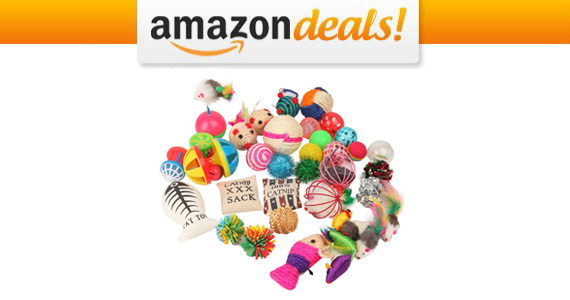 Get 20 Assorted Cat Toys For Only $10.14