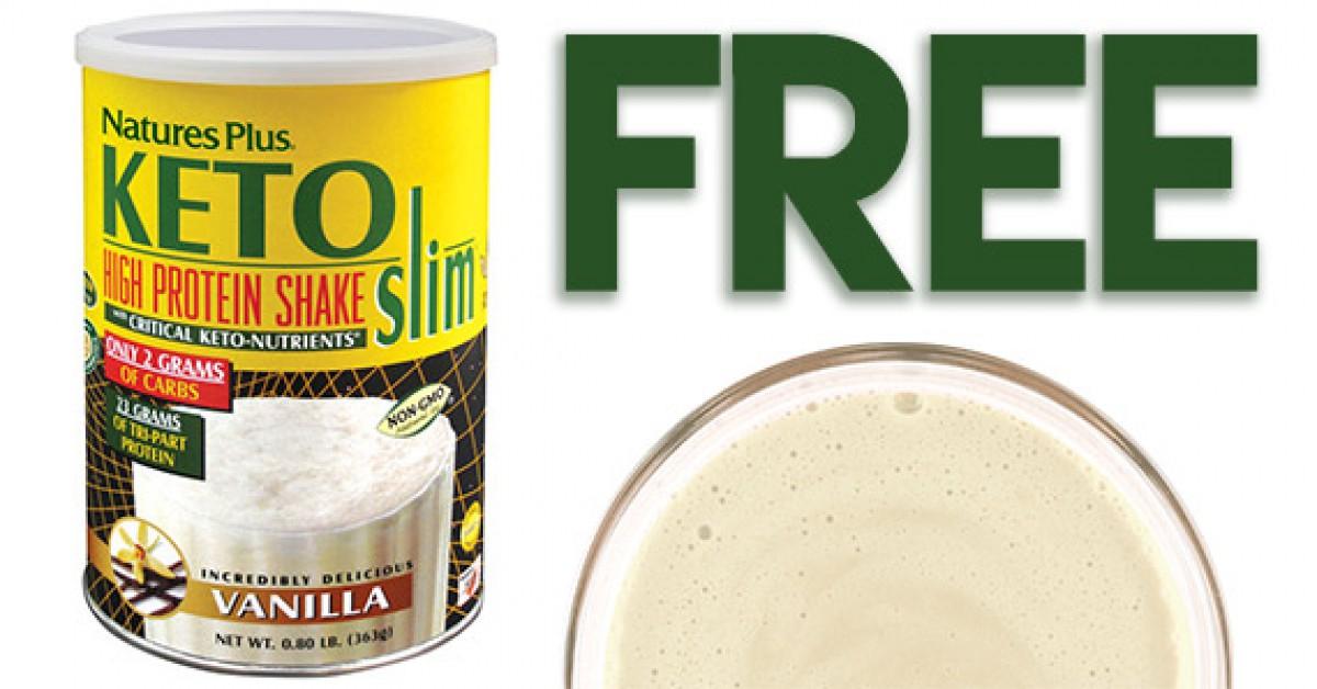 Free KETOslim Vanilla Shake Sample