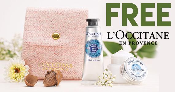 Free L'Occitane Face & Hand Cream