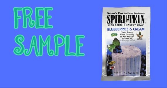 Free Blueberries & Cream SPIRU-TEIN Shake Sample