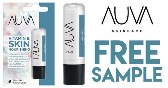 Free Sample of AUVA Lip Balm
