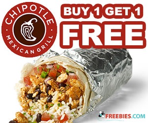 Buy 1 Get 1 Free at Chipotle