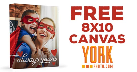 Free 8 x 10 Canvas from York Photo
