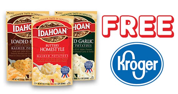 Kroger FREE Friday – Free Idahoan Potato Pouch or Cup
