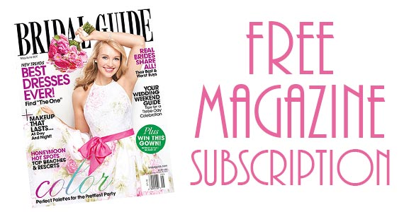 Free Bridal Magazine Subscription