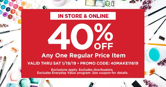 Micheals 40% Off Coupon