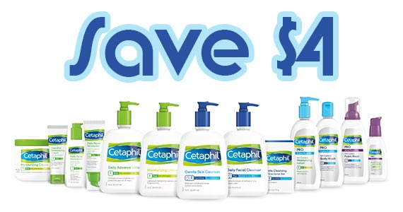 Save $4 off Cetaphil Products