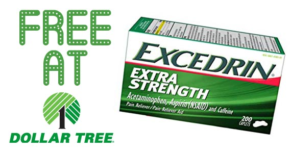 Free Excedrin at Dollar Tree Stores