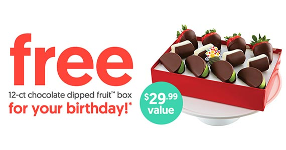 Free Chocolate Dipped Fruit