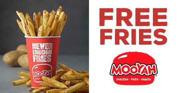 Free Mooyah Fries