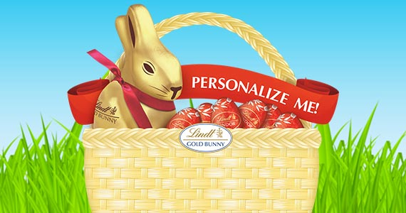 Free Customized Lindt Bunny Ribbons