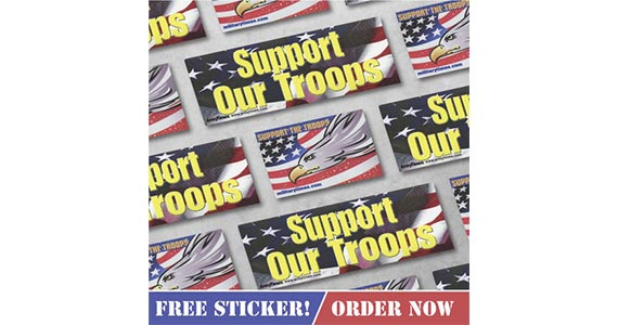Free Support Our Troops Sticker