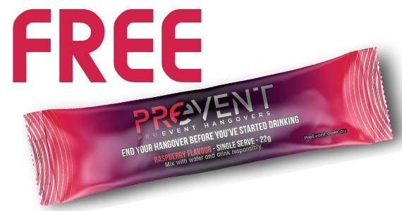 Free PrEvent Hangover Sample