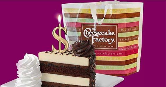 Free $25 of Food at The Cheesecake Factory (April 1st)