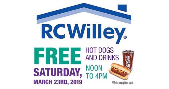 Free Hot Dog & Drink at RC Willey