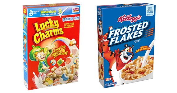 Free Box of Frosted Flakes or Lucky Charms