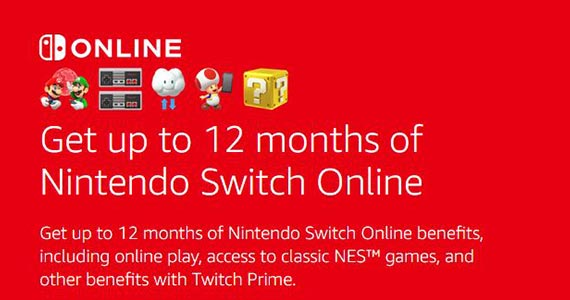 Free Nintendo Switch Online With Amazon Prime