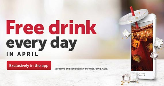 Free Drink Everyday in April at Flying J