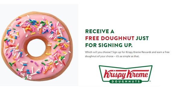 FREE Donut When You Join Krispy Kreme