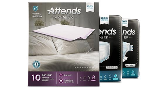 Free Attends Premier Overnight Adult Underwear
