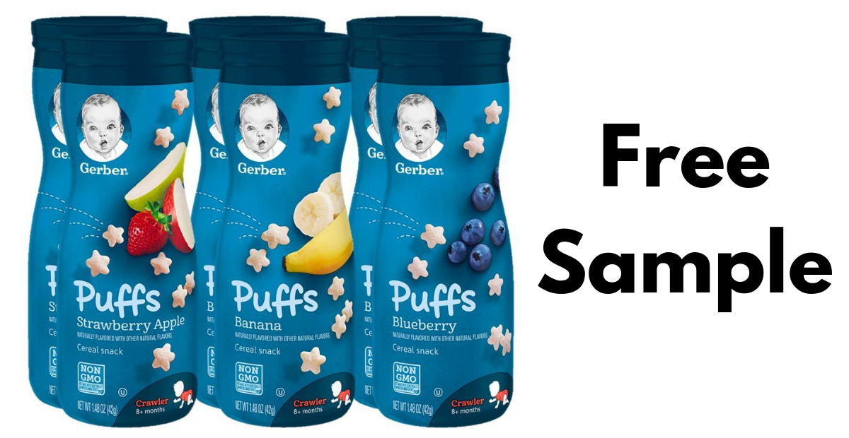 Free Gerber Puffs Samples