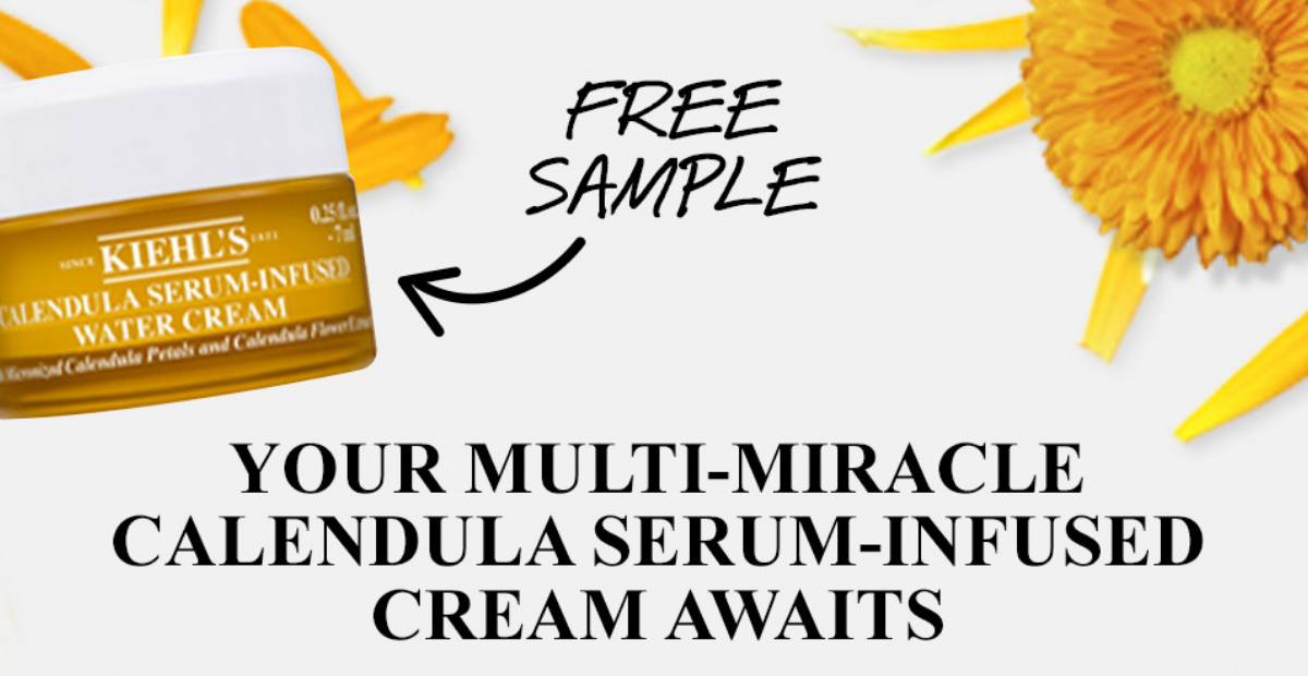 Get a Free Khiel's Water Cream Sample