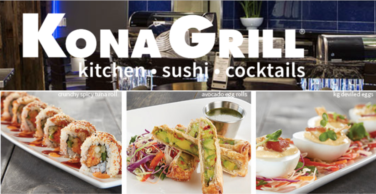Get a Free Sushi Roll or Starter at Kona Grill