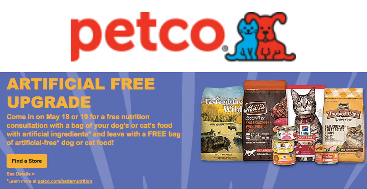 Free Artificial-Free Dog or Cat Food