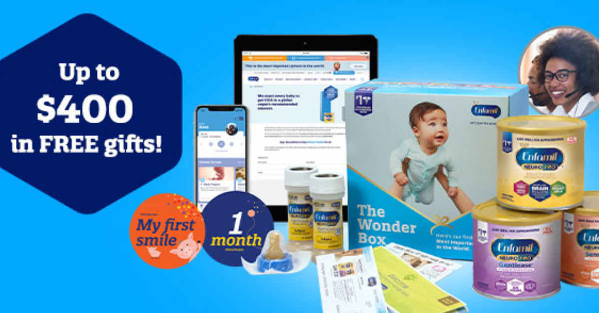 Win up to $400 in Gifts and Free Formula from Enfamil