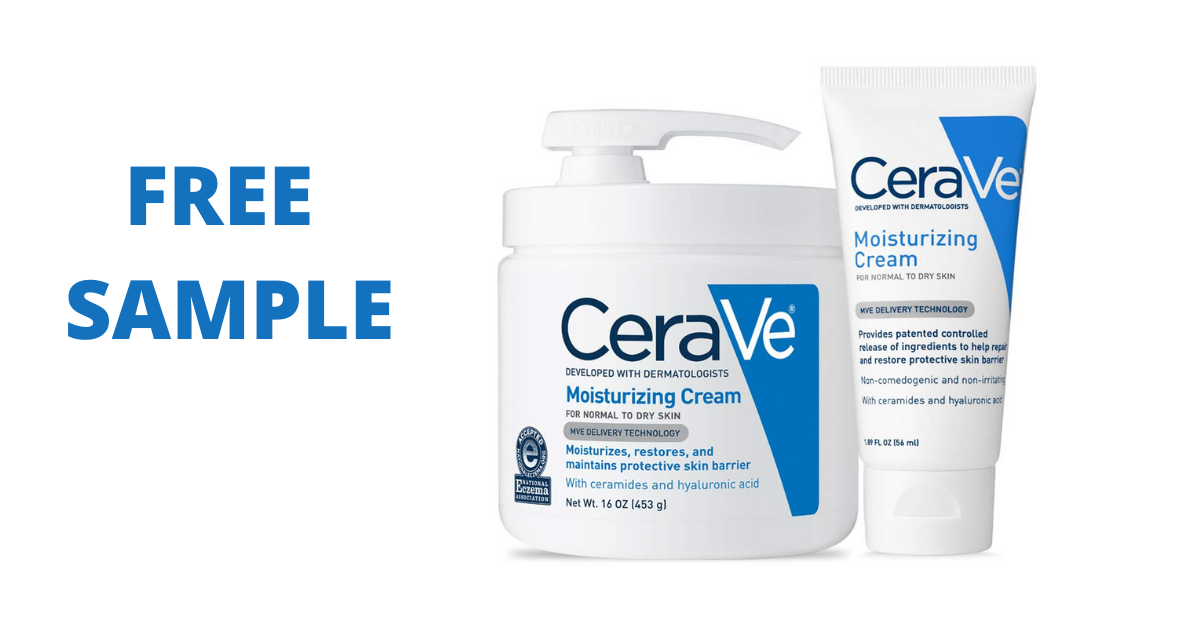 Free CeraVe Moisturizing Cream Sample